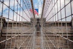 Кабель моста Brooklin Стоковые Изображения RF
