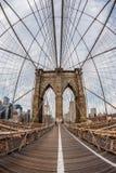 Кабель моста Brooklin Стоковые Фото