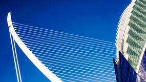 Кабель остался мостом в Валенсии, Испанией Стоковая Фотография RF