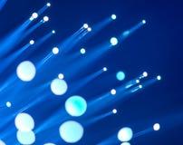 Кабель сети волокна оптически Стоковое Изображение