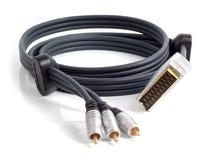 Кабель для соединения к аудио и видеооборудованию Стоковые Изображения RF