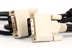Кабель VGA для монитора Стоковое Изображение RF