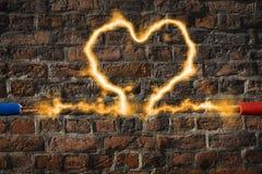 2 кабеля с сердцем Стоковое Изображение
