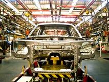 Кабина автомобиля в агрегате line2 заварки Стоковая Фотография