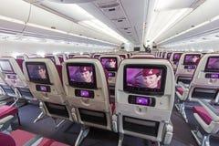 Кабина аэробуса A350 Стоковые Фото