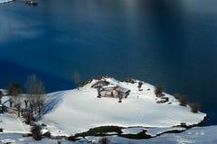 Кабина в горах Picos de Европы Стоковые Фотографии RF