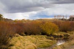 Кабина горы в ландшафте осени Стоковые Изображения RF