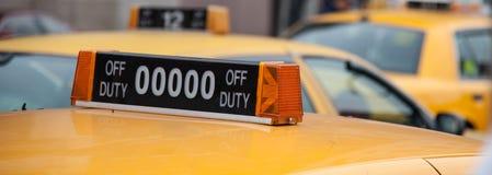Кабина желтого цвета Нью-Йорка Стоковое Изображение RF