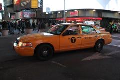 Кабина желтого цвета Нью-Йорка Стоковое Фото