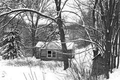 Кабина зимы Стоковые Фотографии RF