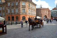 Кабина на улице Варшавы Стоковое Фото