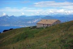 Кабина на Monte Baldo Стоковая Фотография