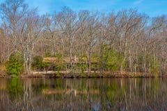 Кабина озером Стоковая Фотография RF