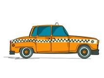 Кабина шаржа желтая бесплатная иллюстрация
