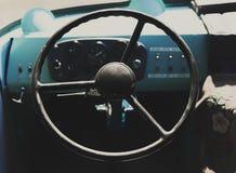 Кабина шины внутренности интерьера ретро тонизировано Стоковая Фотография RF