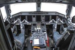 Кабина экипажа Embraer Стоковое Изображение RF