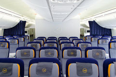 Кабина D-ABYQ Люфтганзы Боинга 747-830 Стоковые Фотографии RF