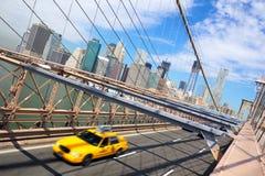 Кабина New York City и таксомотора Стоковые Изображения