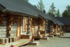 кабины вносят деревянное в журнал Стоковые Фото