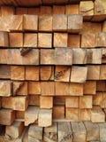кабины вносят деревянное в журнал Стоковая Фотография