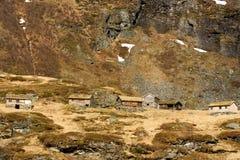Кабины в горах Стоковая Фотография