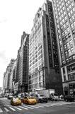 Кабины желтого цвета Нью-Йорка, такси желтого цвета Нью-Йорка Стоковые Изображения