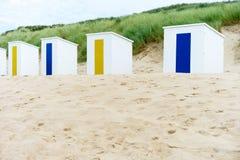Кабины на пляже Стоковые Изображения RF