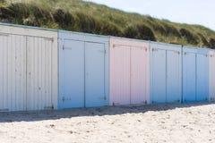 Кабины на пляже Стоковая Фотография RF