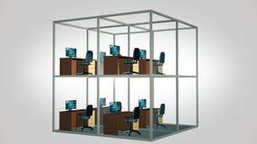 кабины опорожняют офис сток-видео