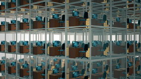 кабины опорожняют офис видеоматериал