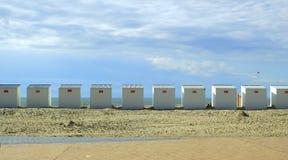 Кабины пляжа в Nieuwpoort стоковое изображение rf