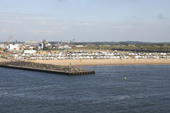 кабины пляжа нидерландские Стоковые Изображения RF