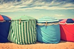 Кабины пляжа в Deauville Стоковые Изображения RF