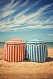 Кабины пляжа, Deauville Стоковое Изображение RF