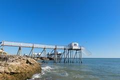 Кабины рыболова на побережье Стоковое Изображение RF