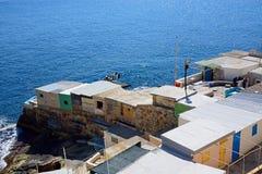Кабины Fishermens, Валлетта Стоковая Фотография