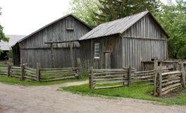 кабины gravel старая улица деревянная Стоковое Изображение