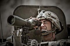 Кабул, Афганистан - 14-ое марта 2011 Легионер во время боевой операции в Афганистане Стоковая Фотография RF