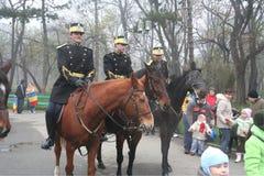 кавалерия показывает военного парад Стоковые Изображения