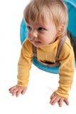 кавказец ребёнка играя белизну Стоковые Фото