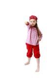 кавказская девушка немногая представляя белизну стойки Стоковые Изображения