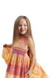 кавказская девушка способа представляя белизну Стоковые Изображения