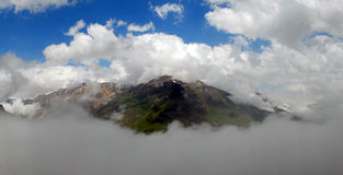 кавказская панорама гор Стоковое фото RF