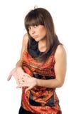 кавказская разочарованная милая женщина стоковое изображение