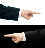 Кавказская рука в изолированном деловом костюме Стоковые Изображения RF