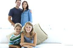 кавказская семья Стоковая Фотография