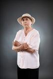 Кавказская старшая женщина Стоковое фото RF