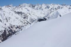 кавказские горы стоковые фотографии rf