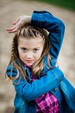 кавказские детеныши девушки Стоковые Фото