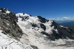 Кавказский ландшафт ледника Стоковое фото RF